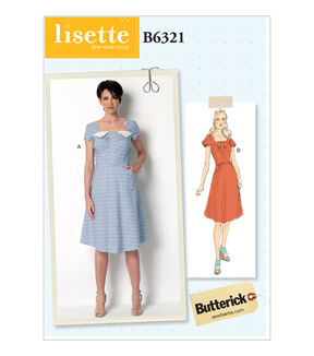 1950s Sewing Patterns | Dresses, Skirts, Tops, Mens Butterick Misses Dress - B6321 $11.97 AT vintagedancer.com