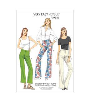 1960s – 70s Sewing Patterns- Dresses, Tops, Pants, Mens Vogue Patterns Misses Pants - V9181 $13.50 AT vintagedancer.com