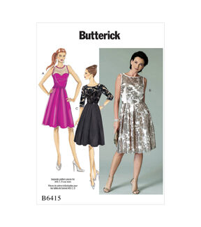 1950s Sewing Patterns | Dresses, Skirts, Tops, Mens Butterick Pattern B6415 Misses Pleated - Skirt Dresses - Size 14 - 22 $11.97 AT vintagedancer.com