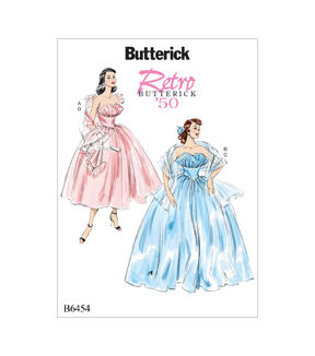 1950s Sewing Patterns | Dresses, Skirts, Tops, Mens Butterick Pattern B6454 Misses Ruffled Dresses  Shawls - Size 6 - 14 $11.97 AT vintagedancer.com
