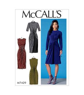 1960s – 70s Sewing Patterns- Dresses, Tops, Pants, Mens McCalls Pattern M7429 Misses Twist - Front Dresses - Size 14 - 16 - 18 - 20 - 22 $11.97 AT vintagedancer.com