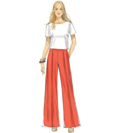1960s – 70s Sewing Patterns- Dresses, Tops, Pants, Mens McCalls Pattern M7483 Misses Top  Pleated Wide - Leg Pants - Size 14 - 22 $11.97 AT vintagedancer.com