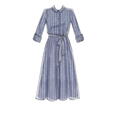 1960s – 70s Sewing Patterns- Dresses, Tops, Pants, Mens McCalls Pattern M7565 Misses Shirt Dresses - Size L - XL - XXL $11.37 AT vintagedancer.com