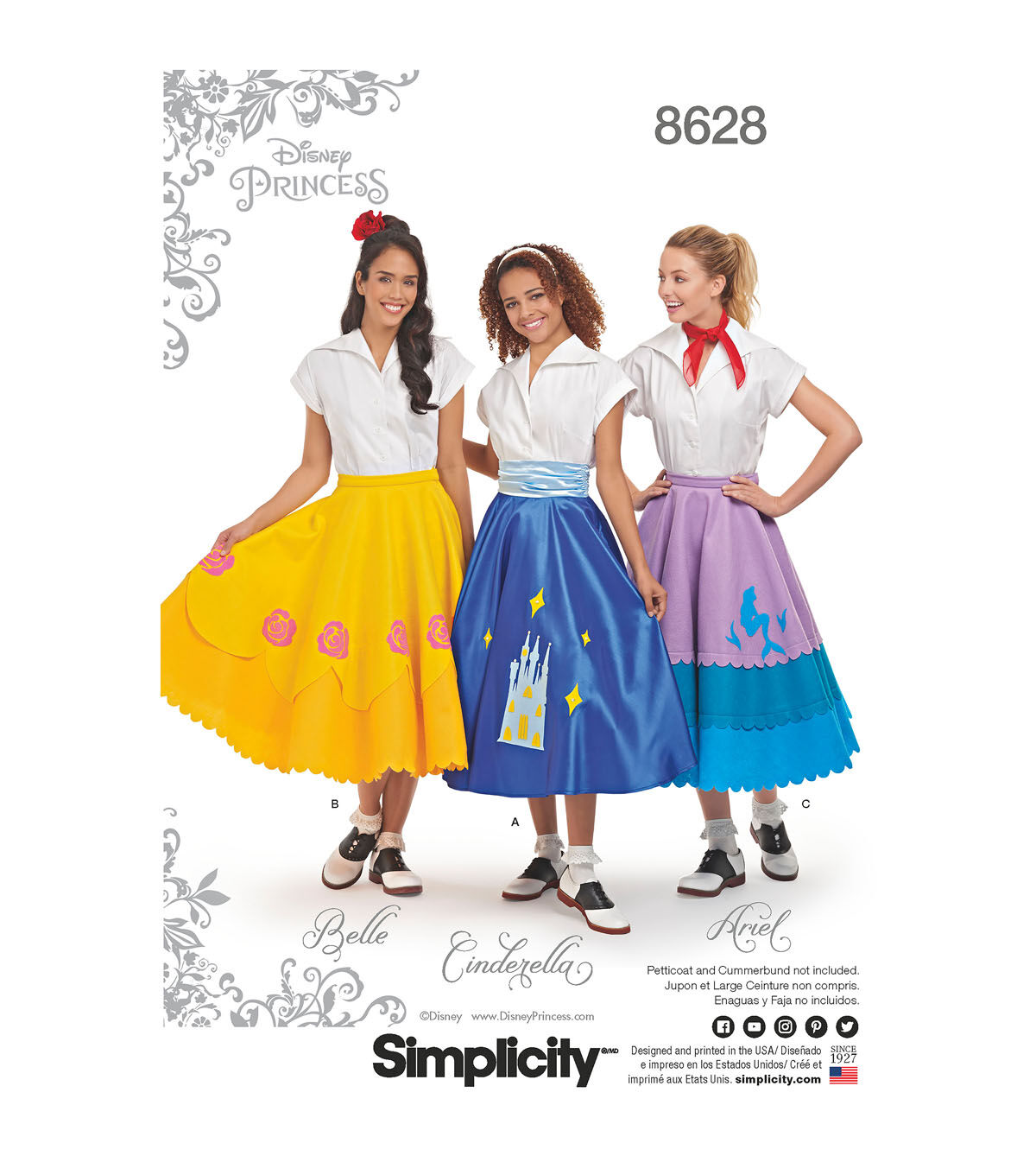 1950s Sewing Patterns | Dresses, Skirts, Tops, Mens Simplicity Pattern 8628 Misses Disney Character Skirts - Size H5 6 - 14 $14.99 AT vintagedancer.com