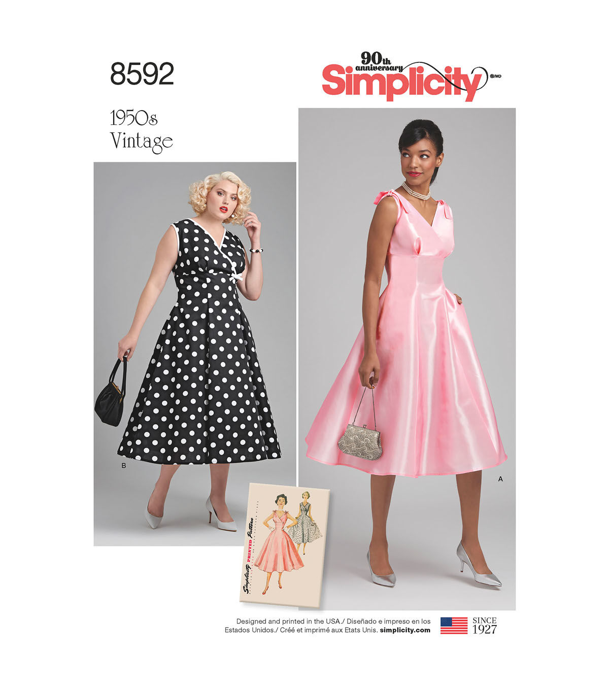 1950s Sewing Patterns | Dresses, Skirts, Tops, Mens 1950s Simplicity Pattern 8592 Misses/Womens Vintage Dress-Size BB (20W-28W) $7.49 AT vintagedancer.com