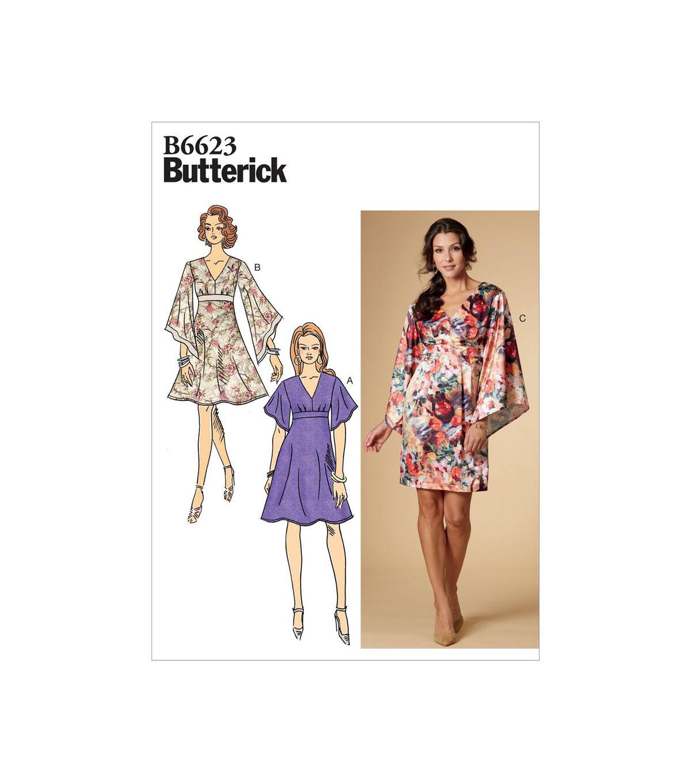 1960s – 70s Sewing Patterns- Dresses, Tops, Pants, Mens Butterick Pattern B6623 Misses Dress - Size 6 - 8 - 10 - 12 - 14 $11.97 AT vintagedancer.com