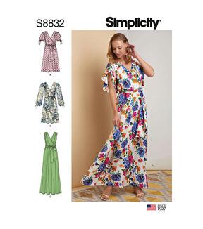 1960s – 70s Sewing Patterns- Dresses, Tops, Pants, Mens Simplicity Pattern S8832 Misses Pullover Dress - Size R5 14 - 16 - 18 - 20 - 22 $12.57 AT vintagedancer.com