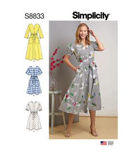 1960s – 70s Sewing Patterns- Dresses, Tops, Pants, Mens Simplicity Pattern S8833 Misses  Miss Petite Dress - Size U5 16 - 24 $12.57 AT vintagedancer.com