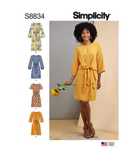 1960s – 70s Sewing Patterns- Dresses, Tops, Pants, Mens Simplicity Pattern S8834 Misses Tie - Front Dress - Size P5 12 - 20 $12.57 AT vintagedancer.com