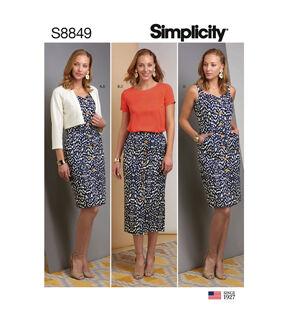 1960s – 70s Sewing Patterns- Dresses, Tops, Pants, Mens Simplicity Pattern S8849 Misses Apparel - Size H5 6 - 8 - 10 - 12 - 14 $12.57 AT vintagedancer.com