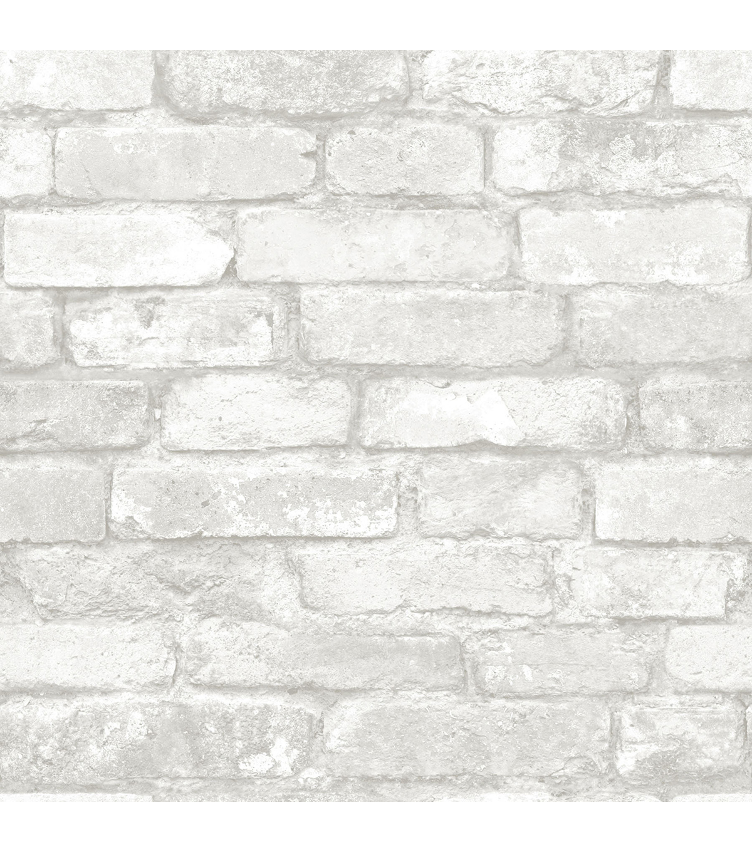Wall Pops Nu Wallpaper Grey White Brick                      Wall Pops Nu Wallpaper Grey White Brick by Wallpops