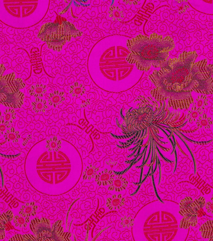 """Brocades Fabric 44"""" Hot Pink                      Brocades Fabric 44"""" Hot Pink by Joann"""