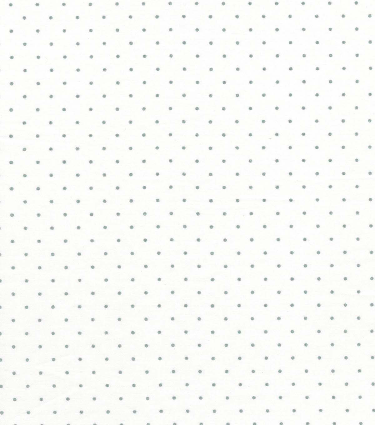 Quilter's Showcase Cotton Fabric 44'' Light Gray Aspirin Dots                      Quilter's Showcase Cotton Fabric 44'' Light Gray Aspirin Dots by Quilter's Showcase