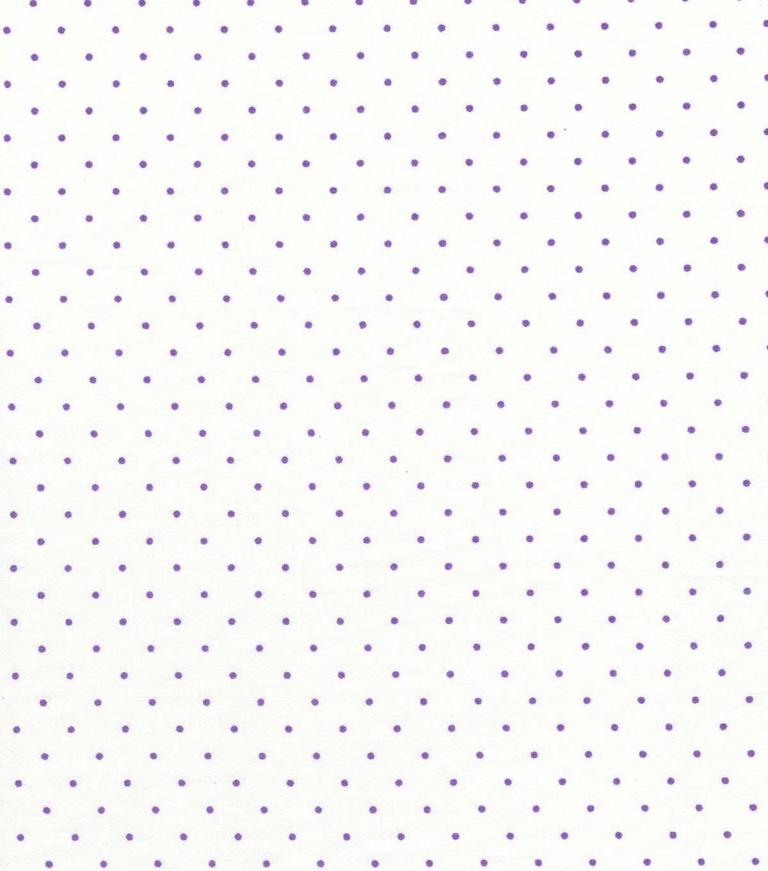 Quilter's Showcase Cotton Fabric 44'' Purple Swiss Dots On White                      Quilter's Showcase Cotton Fabric 44'' Purple Swiss Dots On White by Quilter's Showcase