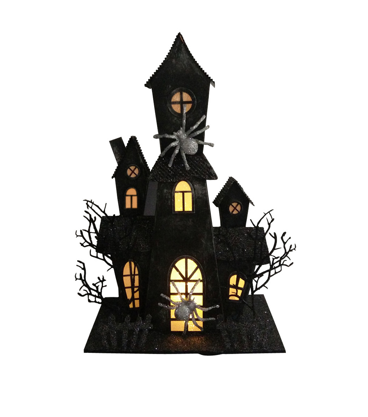 Maker's Halloween Haunted House With Led Black                      Maker's Halloween Haunted House With Led Black by Maker's Halloween