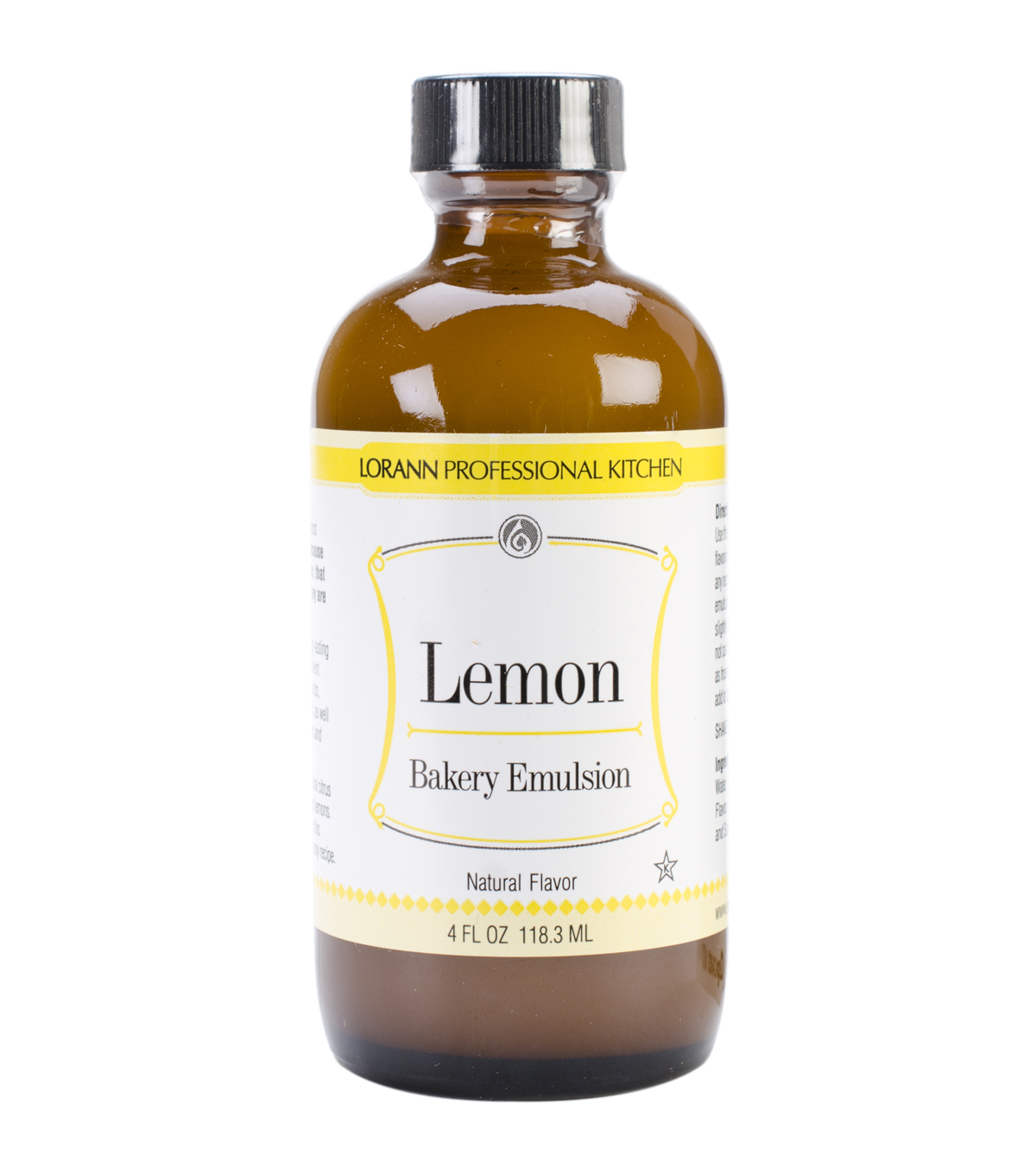Bakery Emulsions Natural & Artificial Flavor 4oz Lemon                      Bakery Emulsions Natural & Artificial Flavor 4oz Lemon by Lorann Oils
