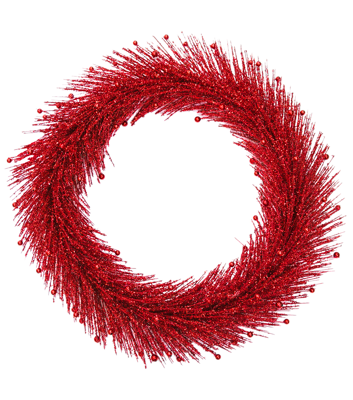 Blooming Holiday Christmas 24'' Glitter Pine Wreath Red                      Blooming Holiday Christmas 24'' Glitter Pine Wreath Red by Blooming Holiday