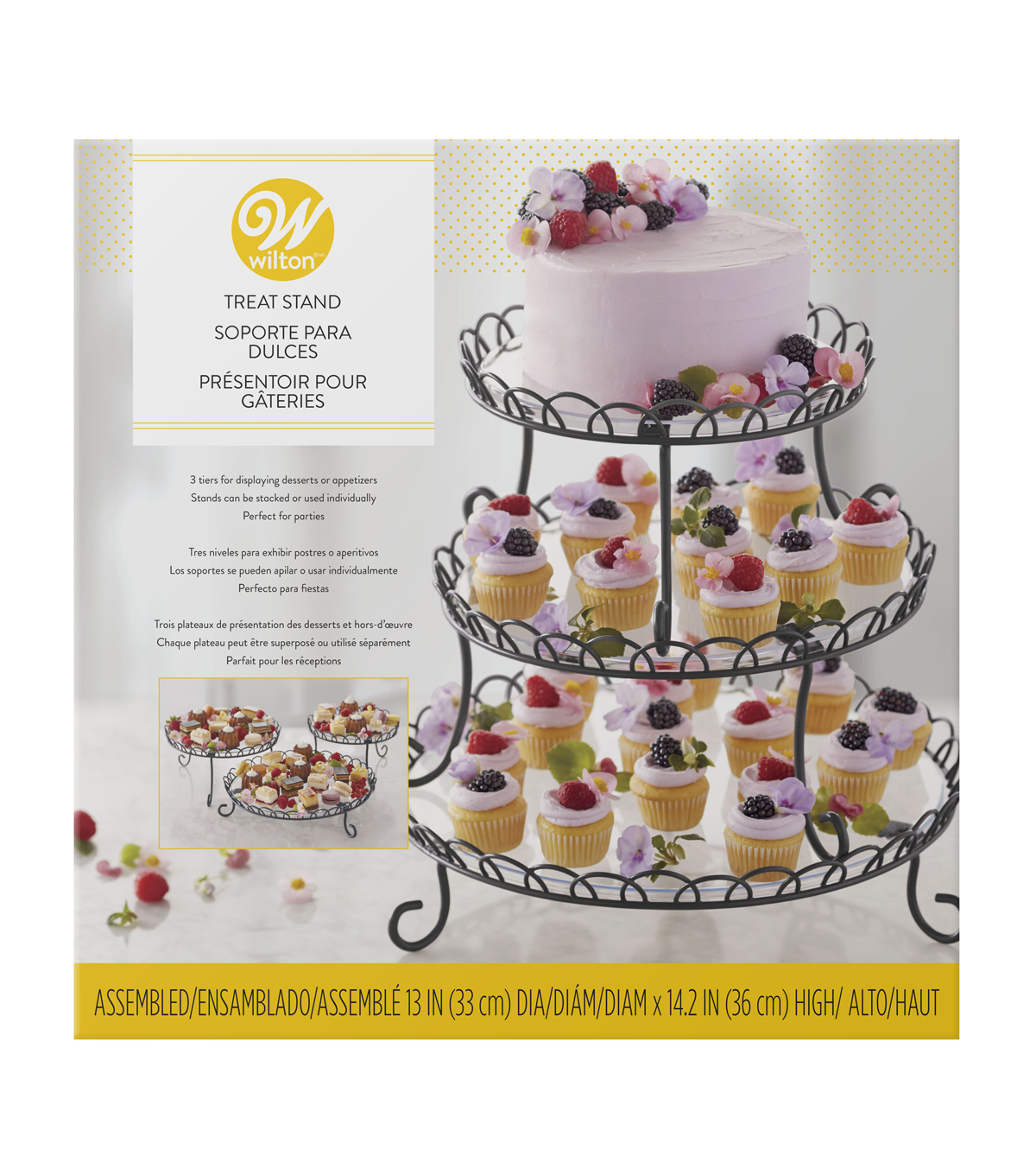 Wilton 13''x14.2'' 3 Tier Customizable Iron Treat Stand                      Wilton 13''x14.2'' 3 Tier Customizable Iron Treat Stand by Wilton