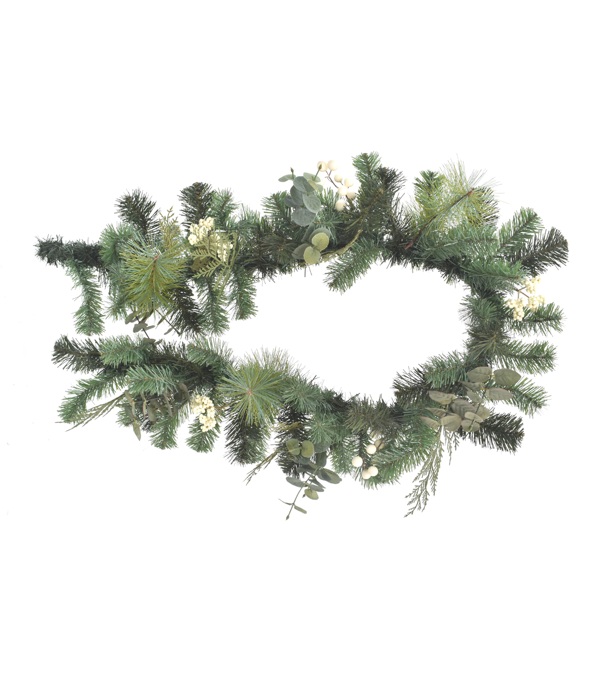 Blooming Holiday Christmas 66'' White Berry & Greenery Garland                      Blooming Holiday Christmas 66'' White Berry & Greenery Garland by Blooming Holiday