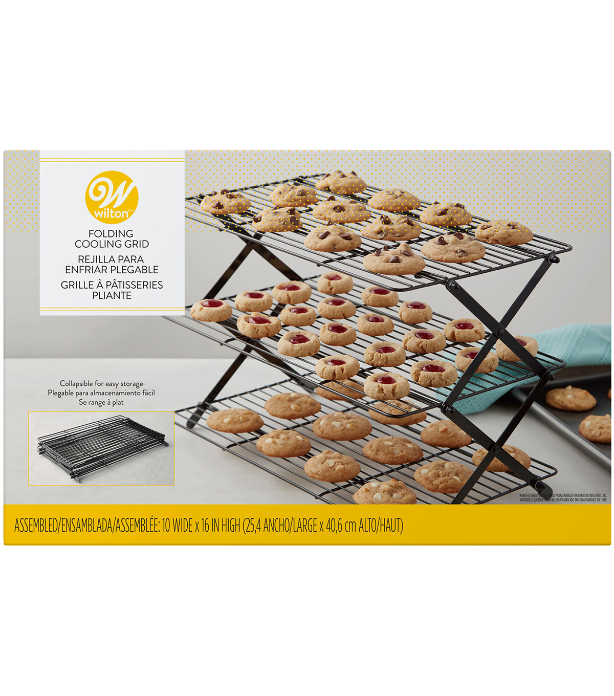 Wilton 10''x16'' 3 Tier Folding Cooling Grid                      Wilton 10''x16'' 3 Tier Folding Cooling Grid by Wilton