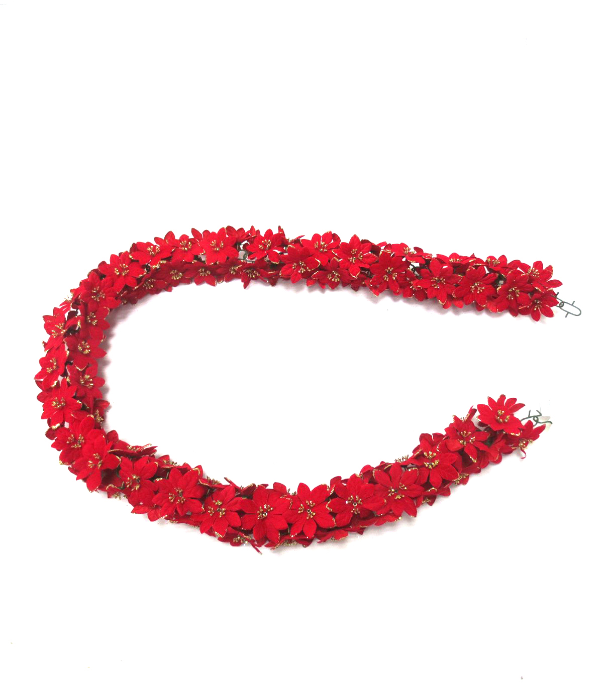 Blooming Holiday Christmas 4''x66'' Glitter Poinsettia Chain Garland Red                      Blooming Holiday Christmas 4''x66'' Glitter Poinsettia Chain Garland Red by Blooming Holiday