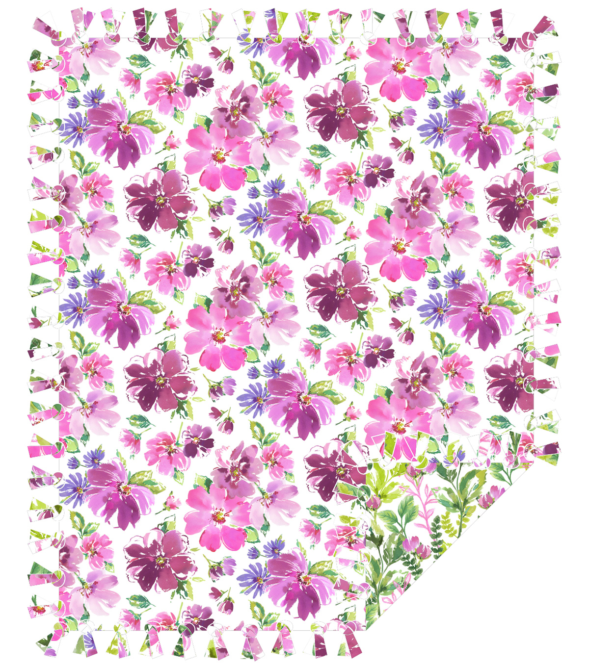 now-sew-fleece-throw-watercolor-floral -------- ------------now-sew-fleece-throw-watercolor-floral by joann