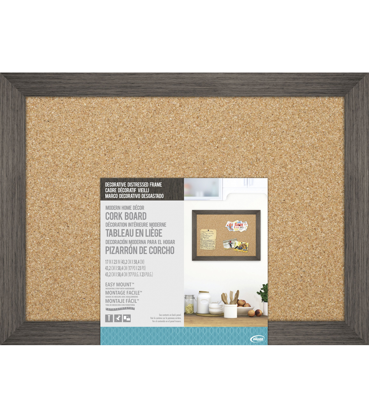 The Board Dudes Cork Board With Decorative Distressed Wood Frame                      The Board Dudes Cork Board With Decorative Distressed Wood Frame by Joann