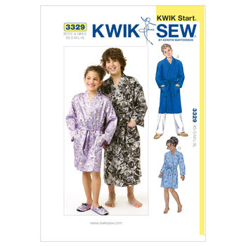 Kwik Sew Pattern K3329 Children's Robes-Size XS-S-M-L-XL