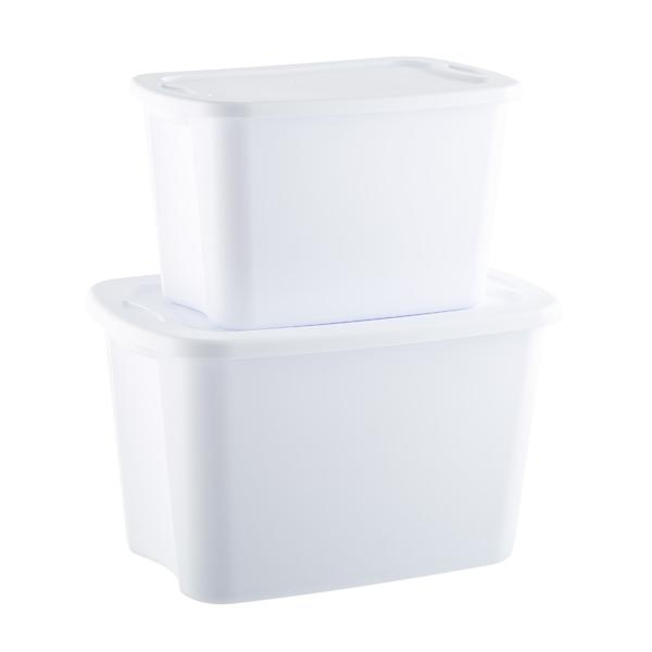 Sterilite White Tote Boxes by Container Store