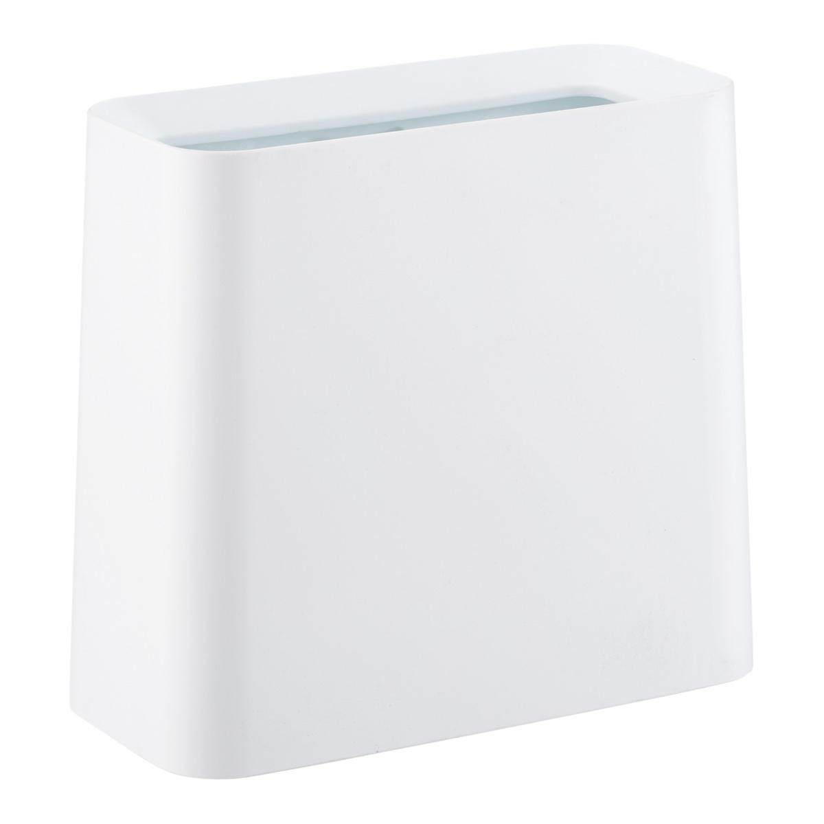 White Rectangle Tubelor High Grand Trash Can by Container Store