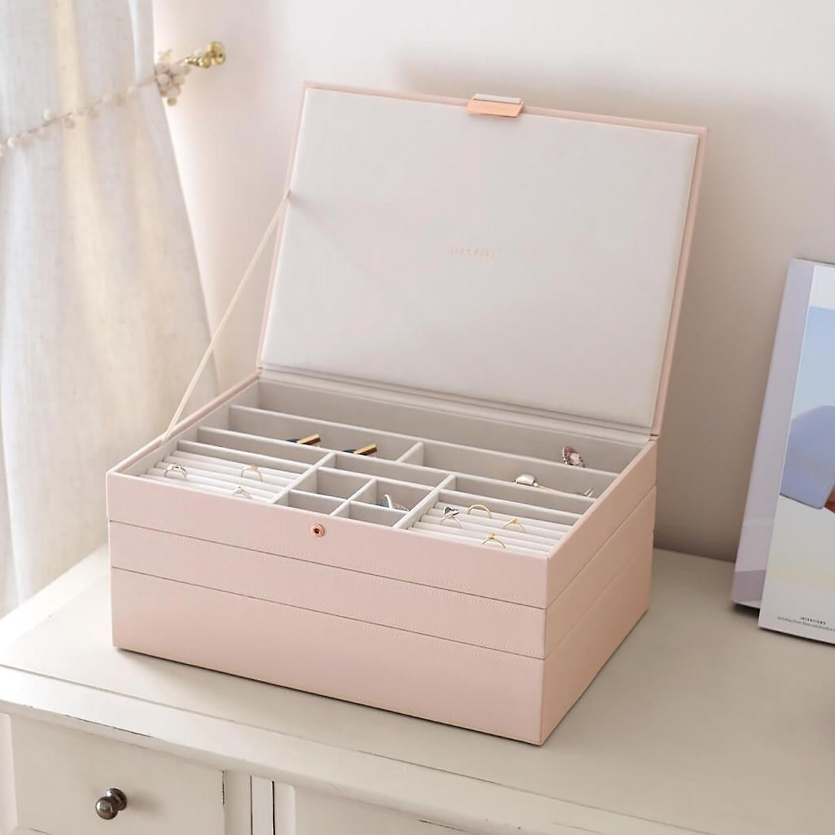 Stackers Blush Supersize Premium Stackable Jewelry Box by Container Store