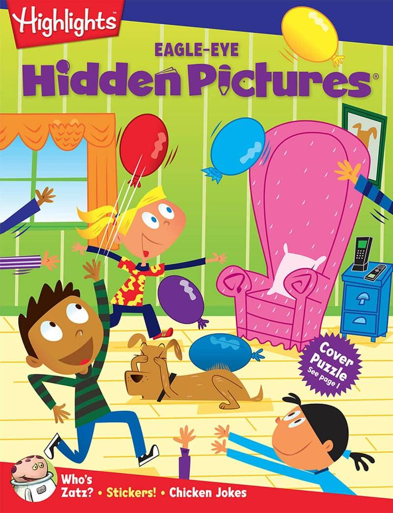 Cover of Eagle Eye, a hidden pictures kids book club from Highlights.