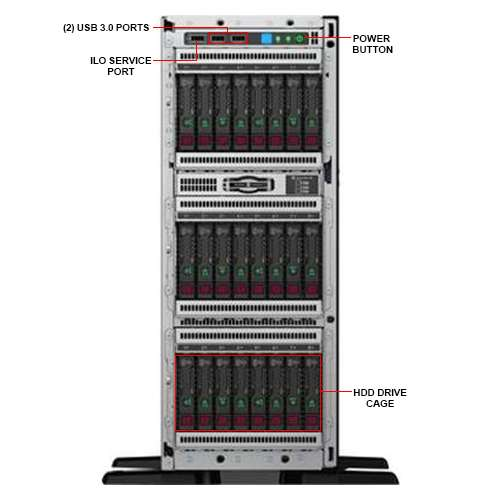 Image Callout - HPE HPE ML350 GEN10