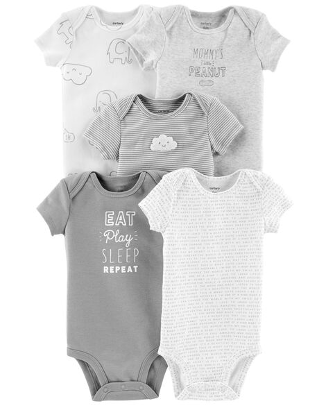 5 Pack Neutral Original Bodysuits by Carter's