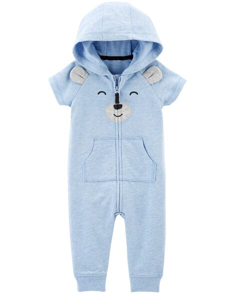 Bear Hooded Jumpsuit by Carter's
