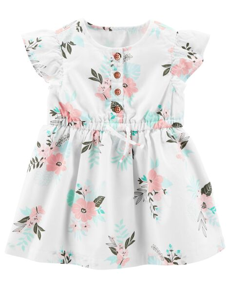 Floral Flutter Sleeve Dress by Carter's