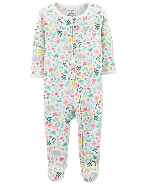 Floral Zip Up Thermal Sleep & Play by Carter's