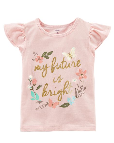 Future Is Bright Flutter Sleeve Tee by Carter's