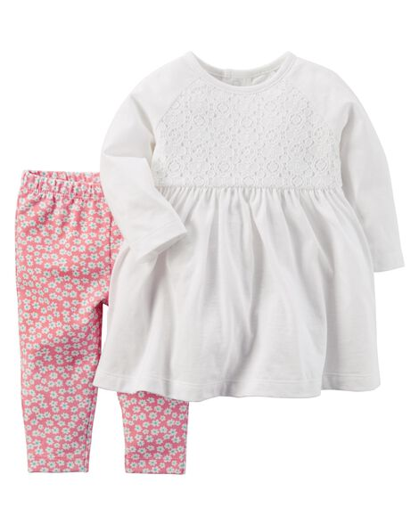 2 Piece Dress & Legging Set by Oshkosh