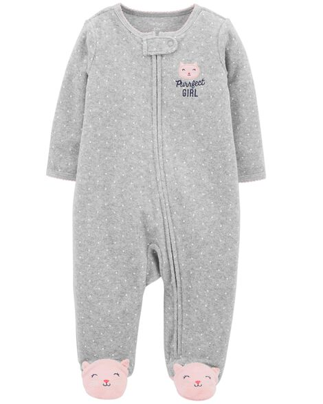 Kitty Zip Up Terry Sleep & Play by Carter's