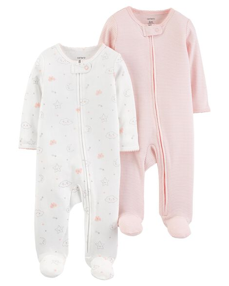 2 Pack Zip Up Cotton Sleep & Plays by Carter's