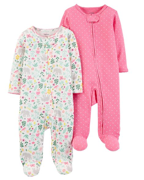 2 Pack Zip Up Cotton Sleep & Play Set by Carter's