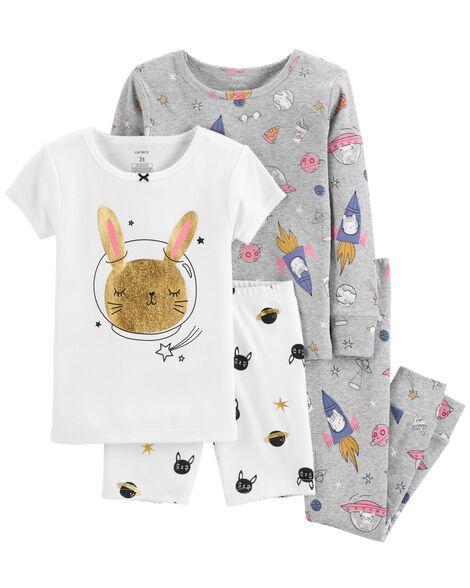 4 Piece Space Bunny Snug Fit Cotton P Js by Carter's