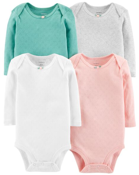 4 Pack Hearts Original Bodysuits by Carter's