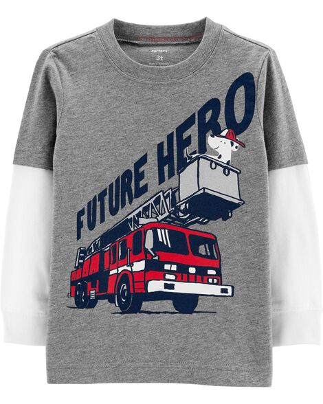 Firetruck Layered Look Terrific Tee by Carter's