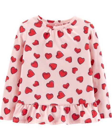 Heart Peplum Top by Carter's