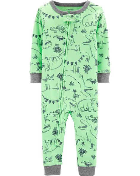 1 Piece Dinosaur Snug Fit Cotton Footless P Js by Carter's