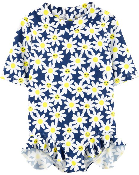 Carter's Floral 1 Piece Rashguard by Carter's