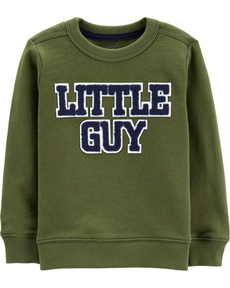Little Guy French Terry Pullover by Carter's