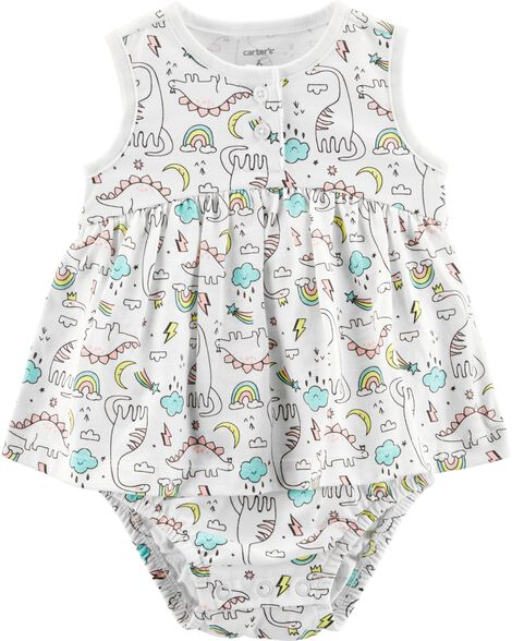Dinosaur Jersey Sunsuit by Carter's